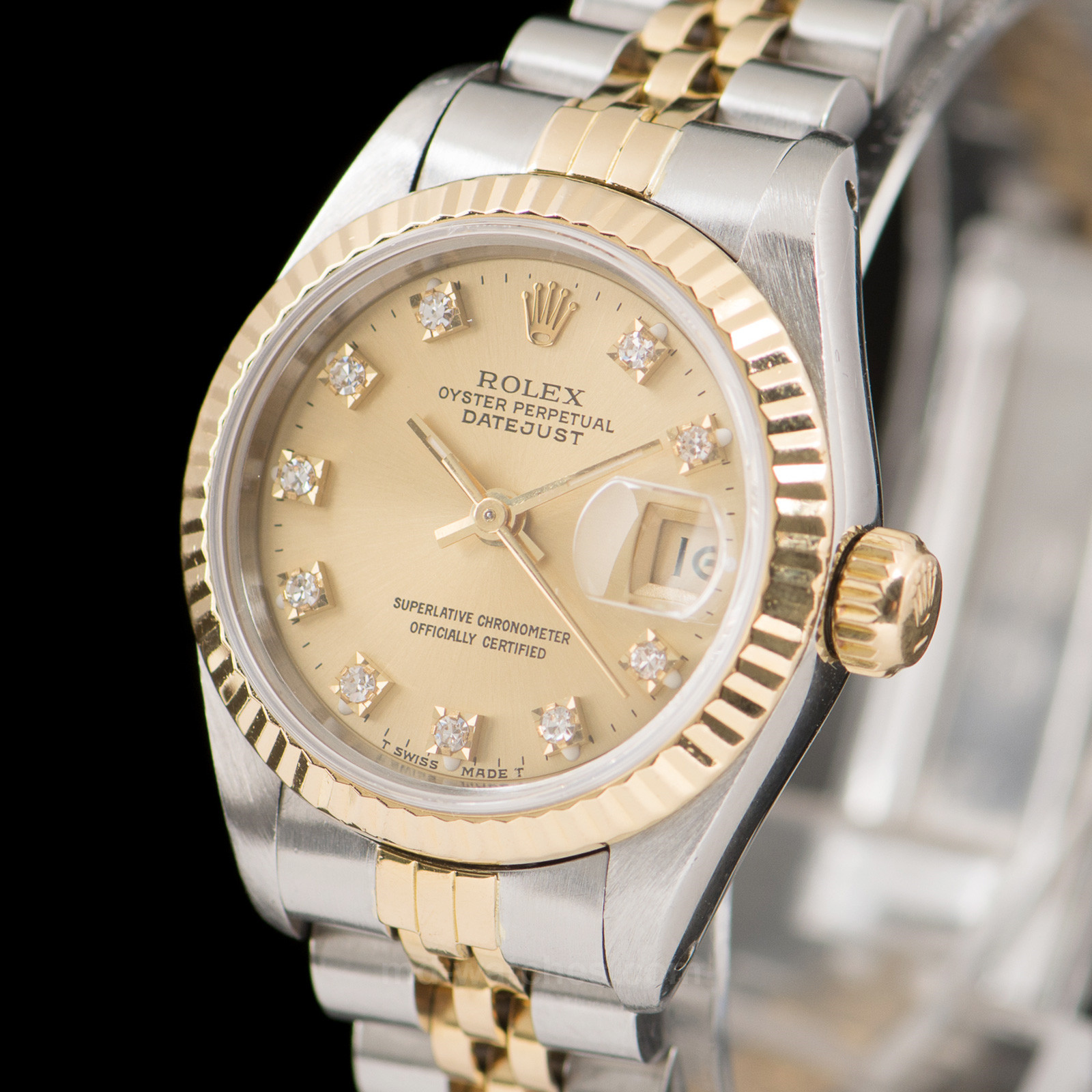 rolex oyster perpetual datejust ref 69173 diamonds 26mm md watches. Black Bedroom Furniture Sets. Home Design Ideas
