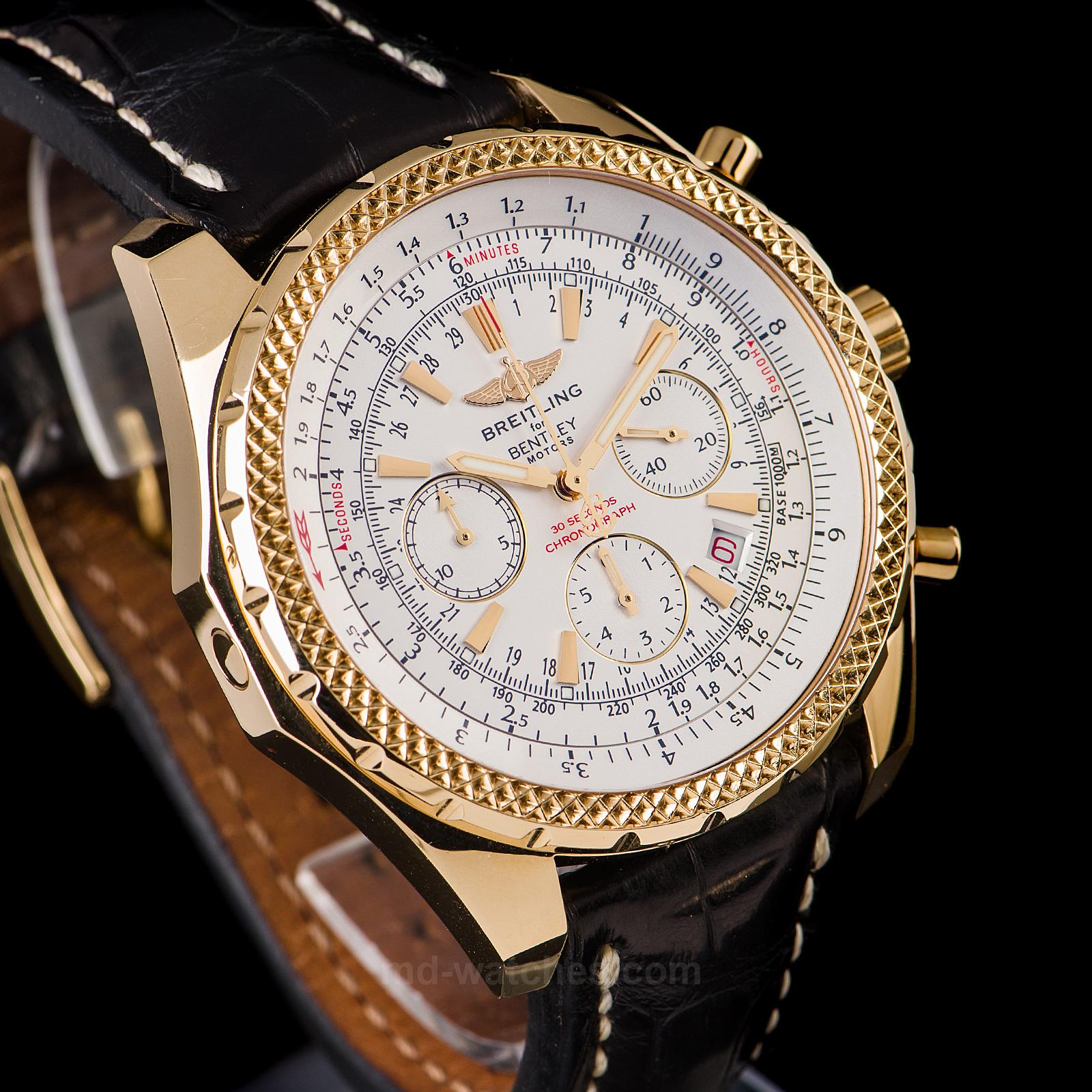 Breitling for bentley motors 18k gold ref k25362 for Breitling for bentley motors watch price