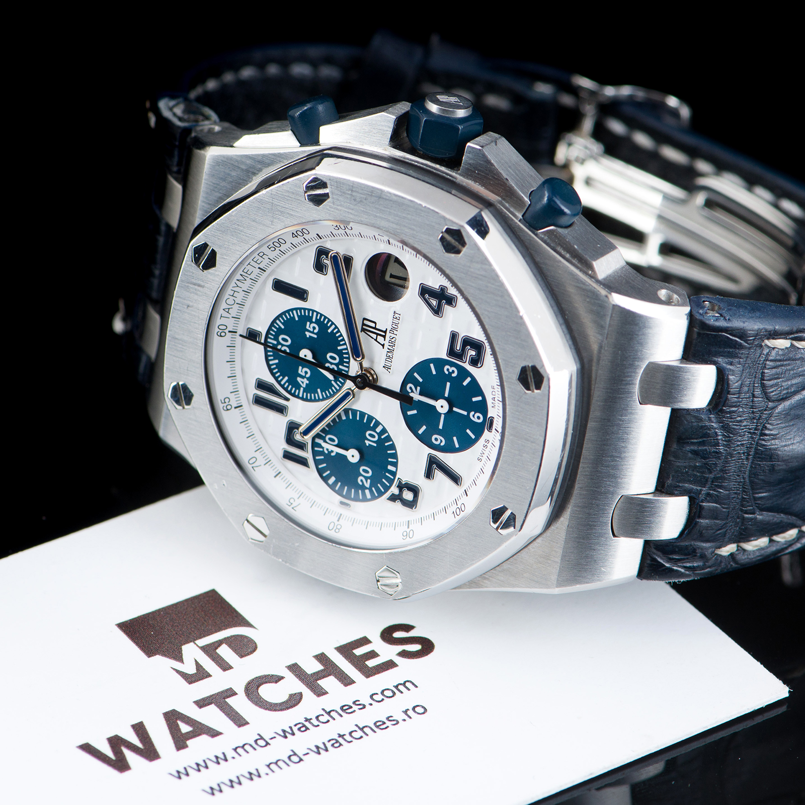 Audemars piguet royal oak offshore chronograph navy ref 26170st oo 42mm md watches for Ap royal oak offshore chronograph