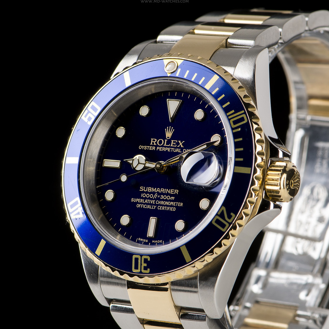 Rolex Submariner Date Ref 16613LB Two,tone gold/steel , 40mm