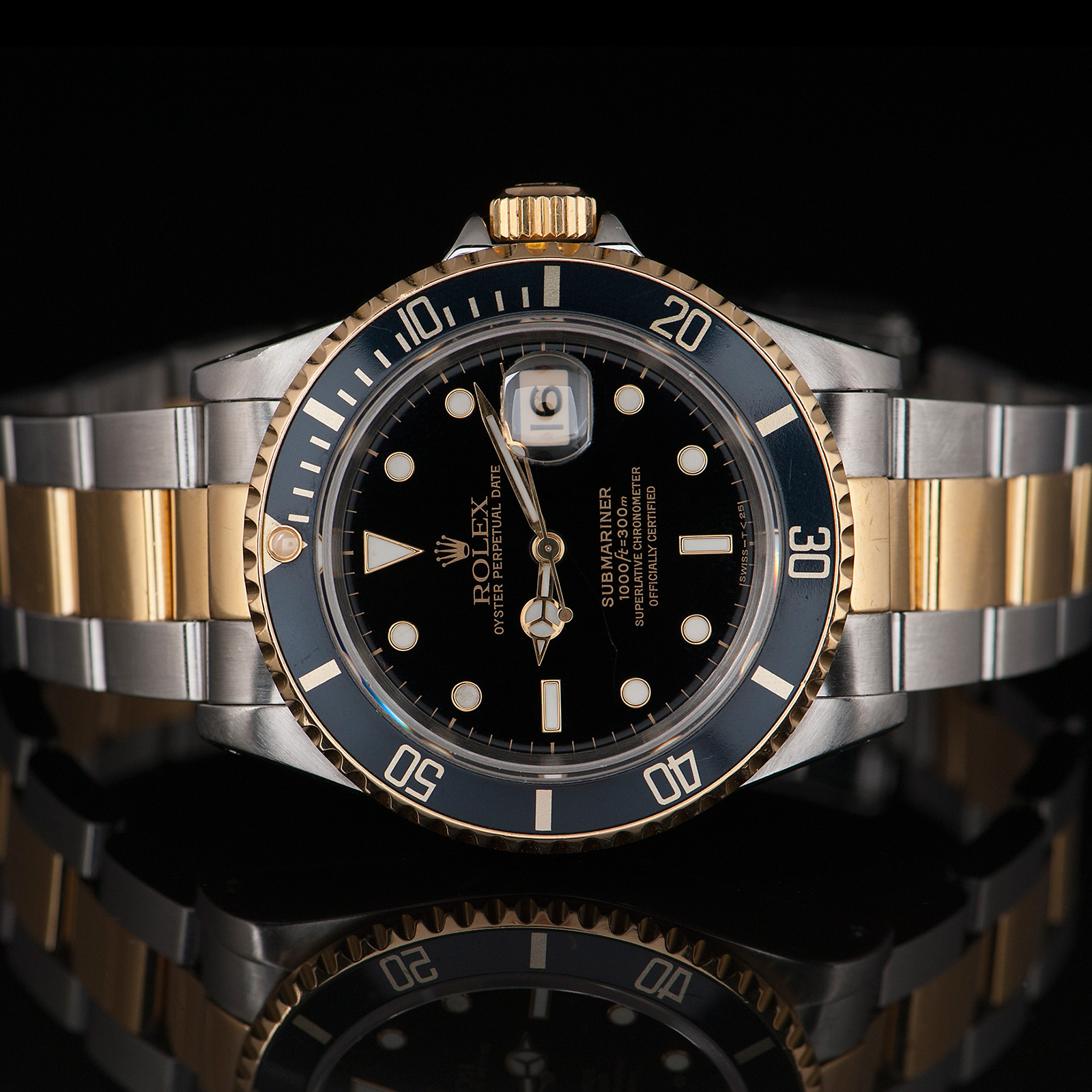 Rolex Submariner Date Ref 16613LN Two,tone gold/steel , 40mm